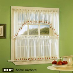 Kitchen And Tier Curtains-Apple Orchard Tier