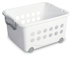 Wheeled Stacking Basket