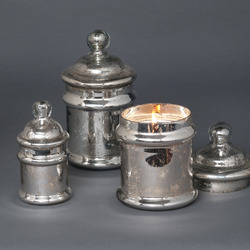 Silver Candy Soy Jar Candles