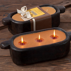 Wooden Lentil Trough Candle