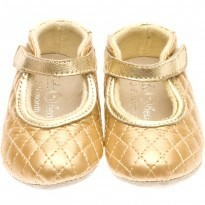 Mary Janes Metallic Gold Shoes