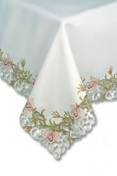 Tablecloths-Fine Pink Rose Tablecloth