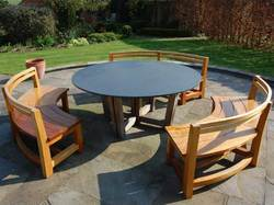 Curved Garden Benches from Paul Deakin Furniture Manufacturer of