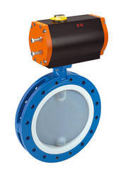 Ptfe Valves /  Double Flanged Type Butterfly Valve