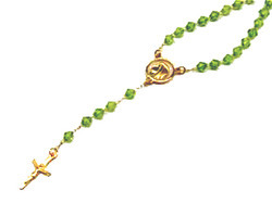Gold Filled Rosaries 18kt Brazilian Gold Filled Rose Design Post