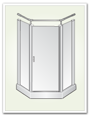 Neo Angle Shower Doors 9731