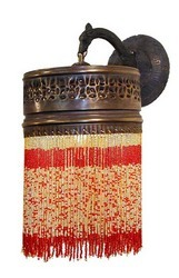 Beaded Brass Wall Sconce