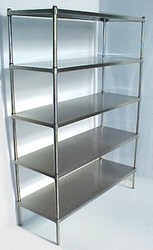 Solid Stainless Steel Shelving