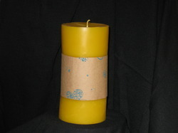 Cylinder Beeswax Candle