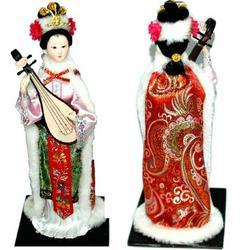 Chinese Doll Beijing Silk Figure, Handicrafts, Crafts, Decoration, Gifts
