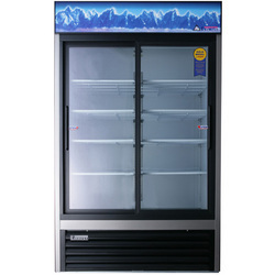 Dual Sliding Glass Door Merchandiser
