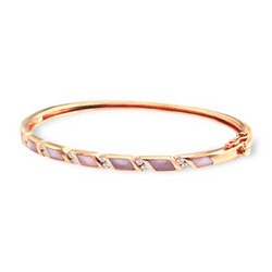 Rose Gold Hinged Bracelet