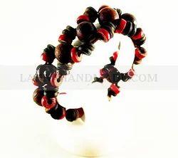 Red Elastic Bead Bracelet