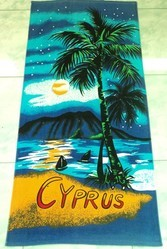 Velvet Beach Towel,reactive Printed Beach Towel