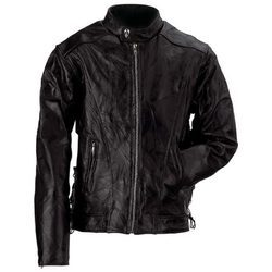 Black Buffalo Leather Motorcycle Jacket