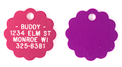 Flower Shaped Aluminum Pet ID Tag