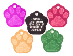 Small Aluminum Paw Shaped Pet IC Tag