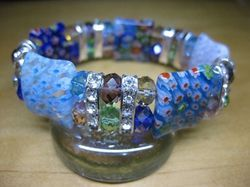 Elegant Murano Art Glass Colorful Bracelet 1734