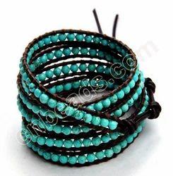 Turquoise Chan Luu Bracelet Wrap Round Stone Beads Bracelets