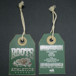 Paper Hang Tag With Silver Foil Stamp - Paper Tags, Hang Tags .