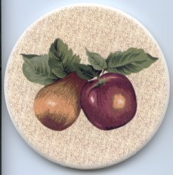 Stone Dry Coasters (Apples)