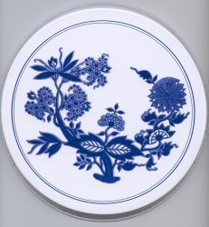 Electric Burner Cover (Blue Flower)