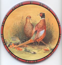 Electric Burner Cover (Pheasants)
