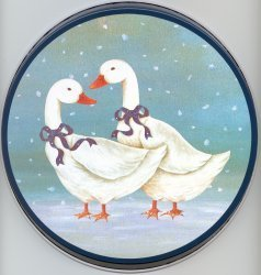 Electric Burner Cover (Snow Geese)