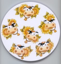 Electric Burner Cover (Sunflower Cow)