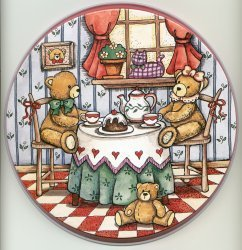 Electric Burner Cover (Three Bears)