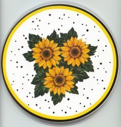 Electric Burner Cover (Three Sunflowers)