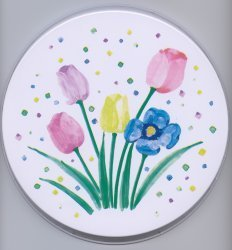 Electric Burner Cover (Tulips)