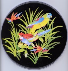 Electric Burner Cover (Two Parrots)