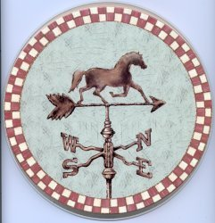 Electric Burner Cover (Weathervane Horse)