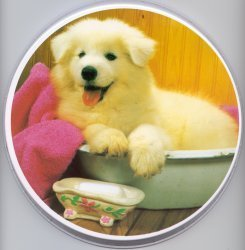 Electric Burner Cover (White Puppy)