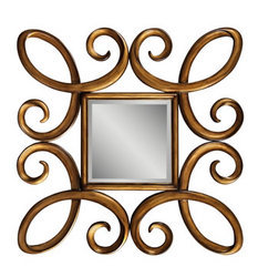 Antique Gold Leaf Frame Mirror