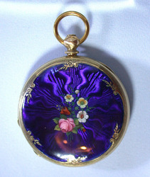 Antique Pocket Watches / Paillard Enamel Ladies Watch