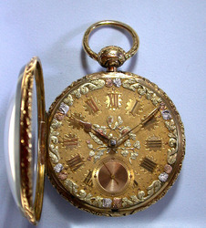Antique Pocket Watches / Roskell With Multicolor Dial