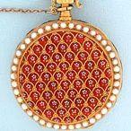 Antique Pocket Watches / Patek Philippe Enamel & Pearl