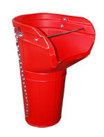 Red Rubbish Chute Side Hopper
