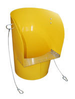 Yellow Rubbish Chute Top Hopper
