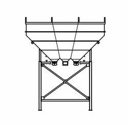 Three Compartment Overhead Aggregate Bins