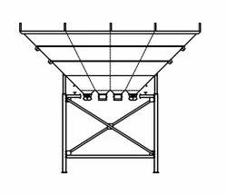 Four Compartment Overhead Aggregate Bins