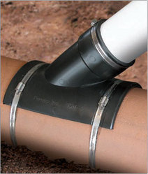 Sewer Saddle Tap http://www.hellotrade.com/stan-roberts-associates-incorporation/flexible-tap-saddles.html