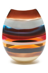 Cranberry U Vase
