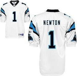 NFL Reebok Jerseys Carolina Panthers 1 Newton White