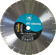 Old Concrete Wet Cutting Blade