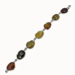 One Off Multi-colour Amber Bracelet