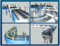 Horizontal Transfer System-Tabletop Chain Conveyor