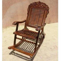 Antique Vintage Wood Carved Glider Rocker Rocking Chair from Sierra ...